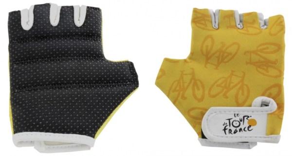 Tour De France fietshandschoenen geel maat 3/4