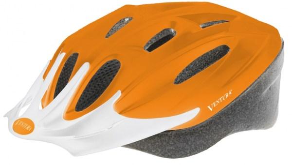 Ventura Fietshelm Met Visier Mat Oranje Maat 58 - 62 cm