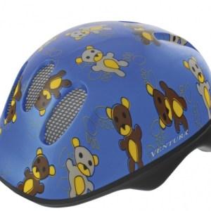 Ventura Fietshelm Teddy Blauw Maat 48/52 cm