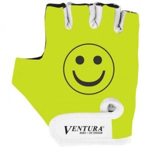 Ventura fietshandschoenen Smile junior geel maat S