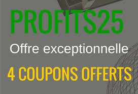 profits25 4 coupons offert