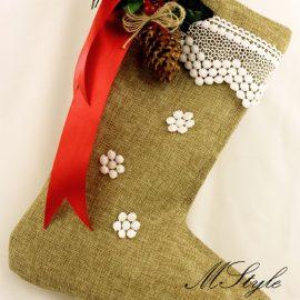 Cizmuliţe cadouri Crăciun 37 cm