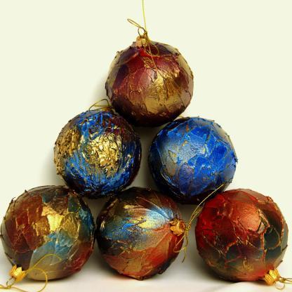Globuri Crăciun divers colorate 8 cm