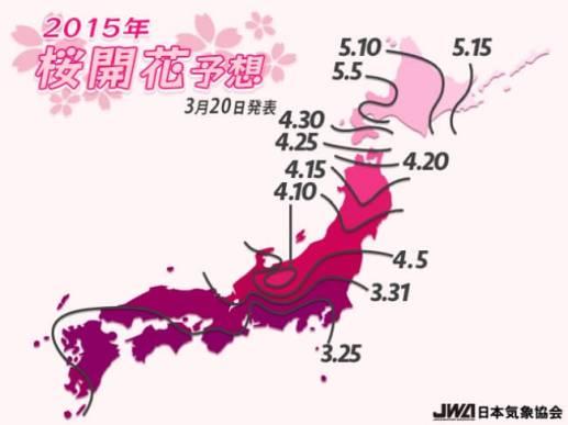 2015年桜開花予想(第5回) - 日本気象協会