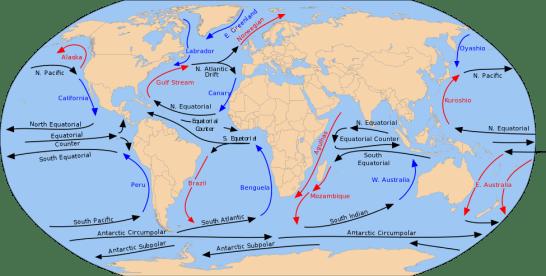海の海流 - 出典 wkipedia