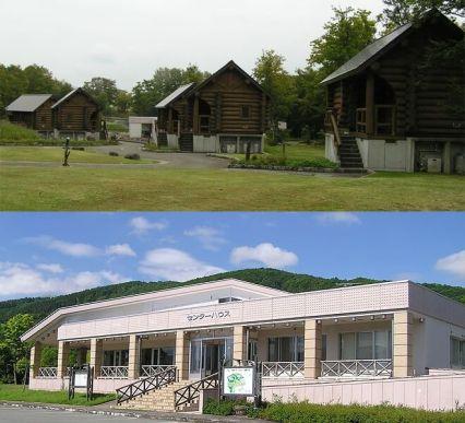 月山弓張平オートキャンプ場 - コテージとセンターハウス
