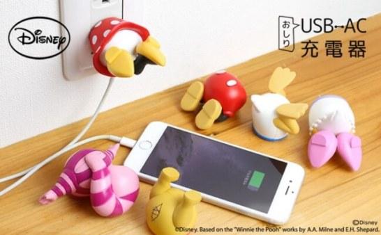 ディズニーキャラの USB-AC 充電器