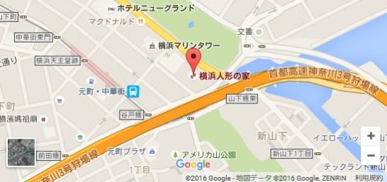 横浜人形の家 - 地図