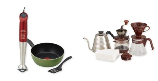 左:目指せ料理上手 / 右:ハンドドリップで極上のコーヒータイム