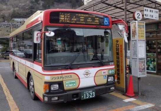 写真=奥多摩の山々を楽しむ登山者の重要な足となっている西東京バス