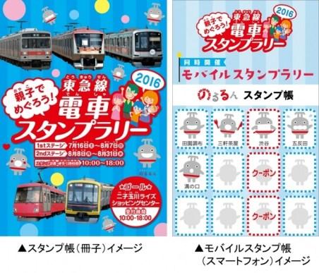親子でめぐろう!東急線電車スタンプラリー2016