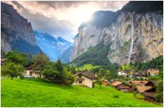 スイス - シュタウプバッハの滝