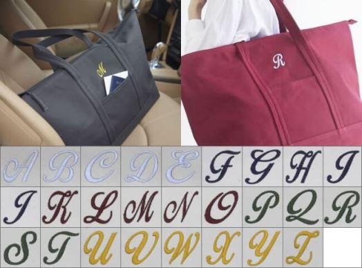 イニシャル刺繍オプション
