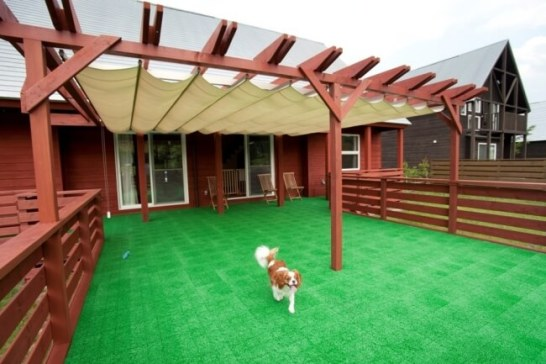 【2位:福島県 羽鳥湖高原レジーナの森】屋根付きドックランテラス