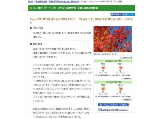 ヤマケイオンラインが山頂のピンポイント天気予報を提供開始