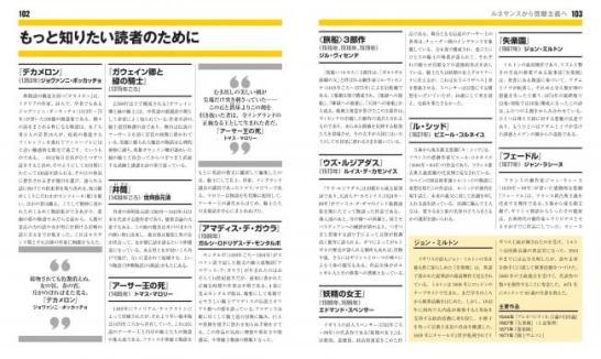 『デカメロン』『妖精の女王』『失楽園』などと並んで、日本の世阿弥による能『井筒』が紹介されている。