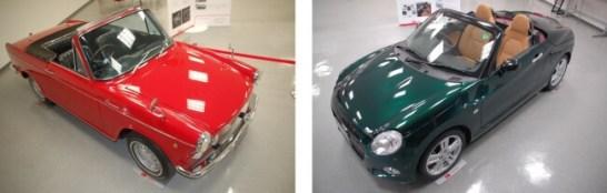新旧オープンスポーツカー「コンパーノ スパイダー」「コペン」を展示  ‐ ダイハツ工業