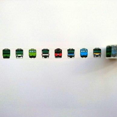 電車・新幹線の顔シリーズ - マスキングテープ