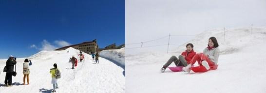雪の滑り台 Snow Slide