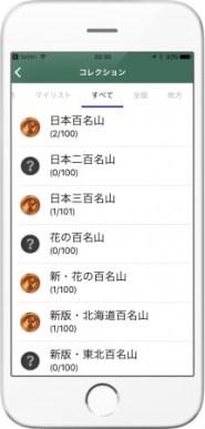 山コレ コレクション画面
