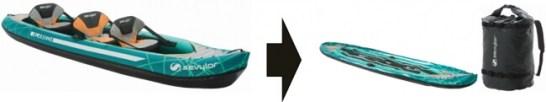コールマンからインフレータブルカヤックの新製品「アラメダ(TM)」とフローティングベストが新発売