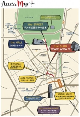 「TOKYO JAZZ WEEKEND ~みんなのジャズ~」&共催「第16回 東京JAZZ」会場分布MAP