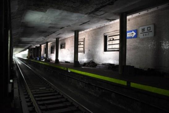 神宮前駅ライトアップの様子