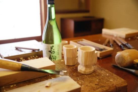 井波彫刻「木のぐい呑み作り体験」