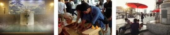 道後温泉&嬉野温泉の源泉直送の「スペシャル足湯&手湯」をご用意しています。
