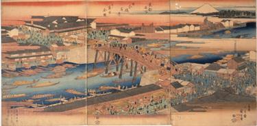 東都名所 日本橋真景并ニ魚市全図 1830-43年(天保中頃)