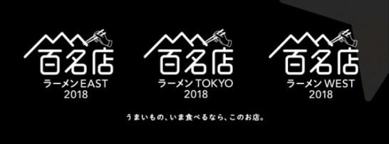 食べログ ラーメン百名店 2018