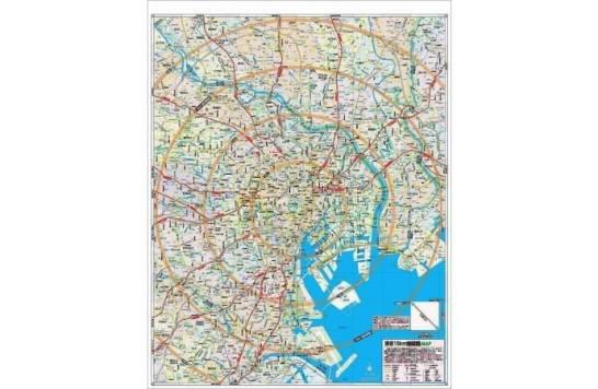 『帰宅支援マップ 首都圏版』巻末「東京15km圏経路MAP」