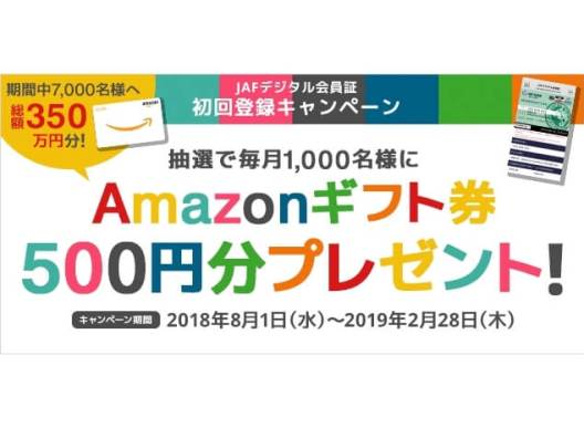 当選人数7,000名!Amazonギフト券500円分が当たるキャンペーンを実施!!