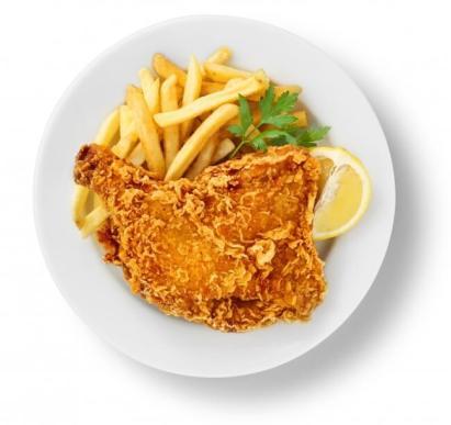 ・チキン&チップス ¥999 すごく大きな食べ応えのあるチキン