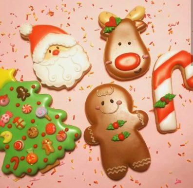 クリスマスモチーフのアイシングクッキーづくり