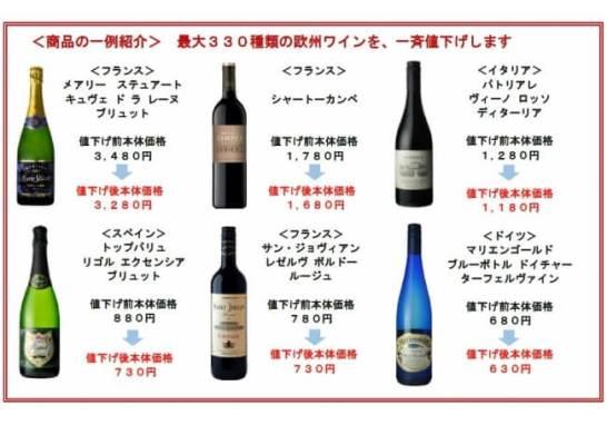 2/1(金)より欧州ワイン一斉値下げ - イオン