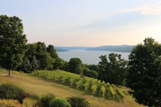ニューヨーク州北部のワイナリーは湖に面してることが多い
