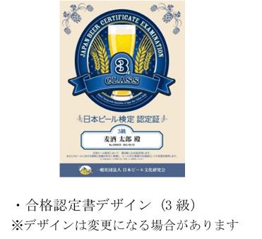 合格認定書デザイン(3級)