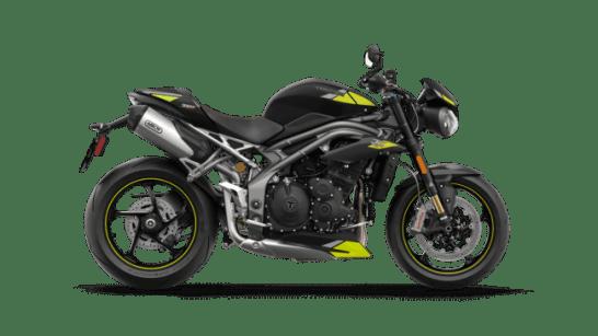 Speed Triple - マットブラック イエローグレーデカール付