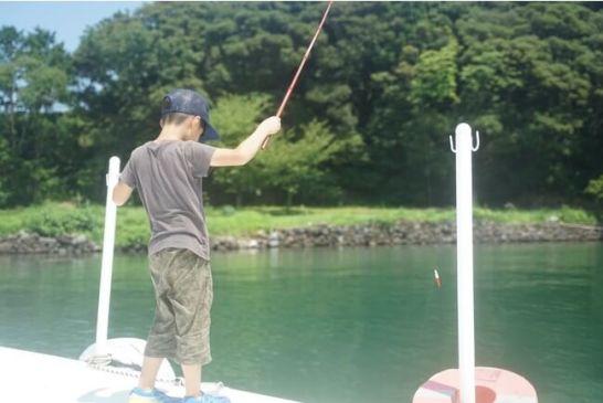 魚釣り体験(キス、ベラなどが釣れます)