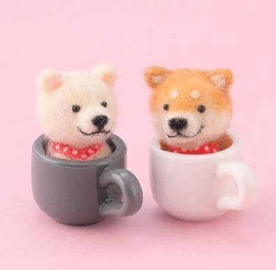 本物よりかわいい 羊毛フェルトのやんちゃな柴犬 - 主婦の友社
