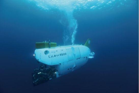 有人潜水調査船「しんかい6500」   画像提供:JAMSTEC(海洋研究開発機構)