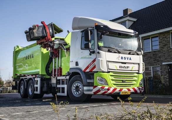 Первый электрический мусоровоз в Нидерландах