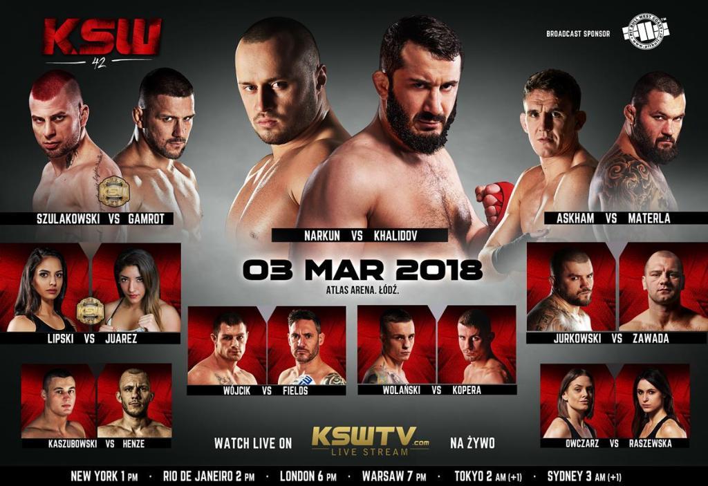 KSW 42 Gala Arena Łódź – transmisja PPV w Graficom