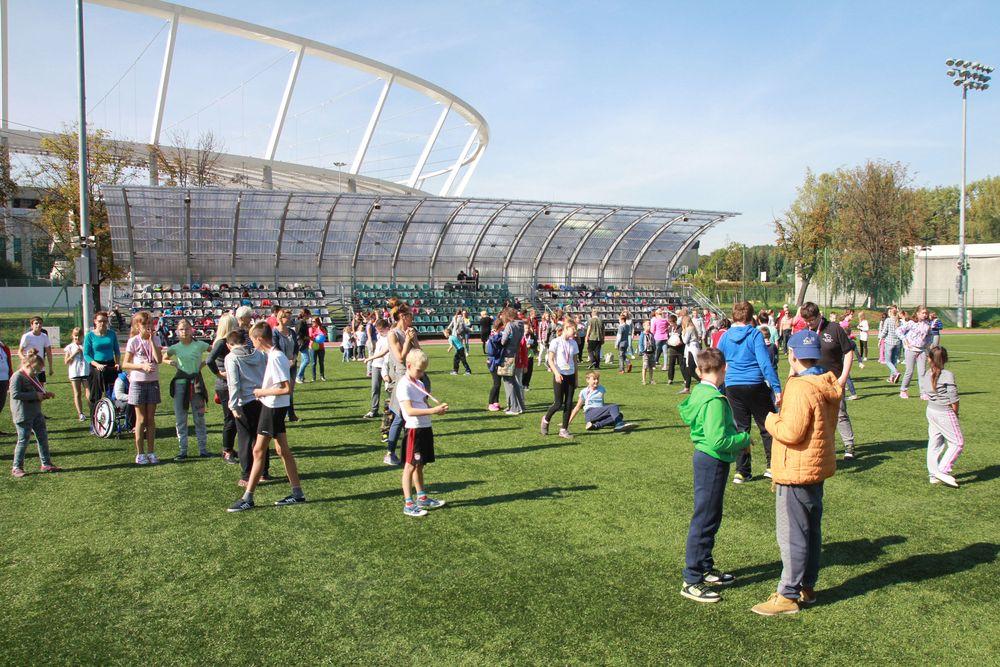 Paraolimpiada na obiektach treningowych Stadionu Śląskiego.