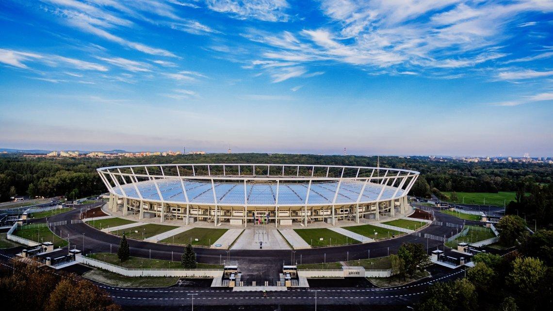 Stadion Śląski rozbłyśnie na niebiesko