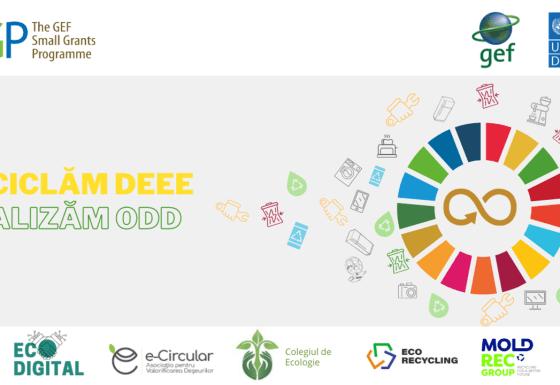 """Proiect """"Reciclăm DEEE și realizăm ODD"""" (EcoDigital în parteneriat cu e-Circular)"""