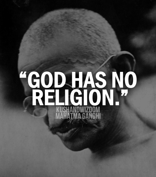 "Religion may just be a ""Thought"" – God has no Religion"