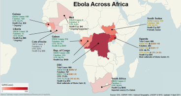 The African Ebola outbreak map.