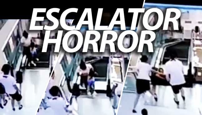 Mother Eaten Alive by an Escalator in China (VIDEO)